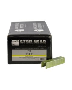 Steelhead P13 Galvanized Staples, 1-Inch Crown, 16-Gauge, 1-Inch Leg, 10,000-PK