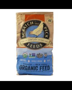 Scratch and Peck Feeds 2010-25 Organic 3-Grain Scratch Hen Treat - 25-lbs