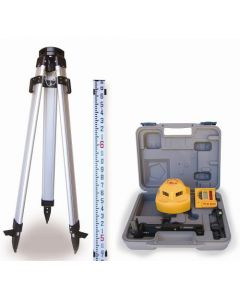 Pacific Laser Systems PLS-60537 PLS360 Kit with PLS360 Laser Level and PLS-SLD Detector, Grade Rod & 1/4-20 Tripod