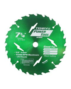 7-1/4-inch 24T Power Tool Series Saw Blade, 5/8-inch Arbor