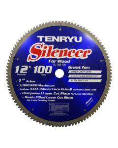 Tenryu SL-305100 12-inch Carbide Tipped Table Miter Saw Blade