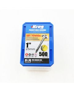 "Kreg SML-C1-500 1"" Coarse Pocket Hole Screws, 500-Pack"