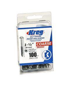 Kreg SML-C150-100 Pocket Screws 1-1/2-Inch, 8 Coarse, Washer-Head, 100ct