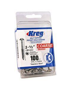 "Kreg SML-C150S5-100 305 Stainless Steel Pocket Hole Screws - 1 1/2"" 100ct"