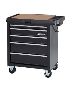 Waterloo SP-PC5BK-P Specialty Series 5-Drawer Project Center with Power, Black