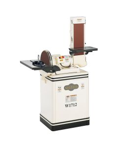 "Shop Fox W1712 - 1.5 HP 6/12"" Combination Disc/Belt Sander"