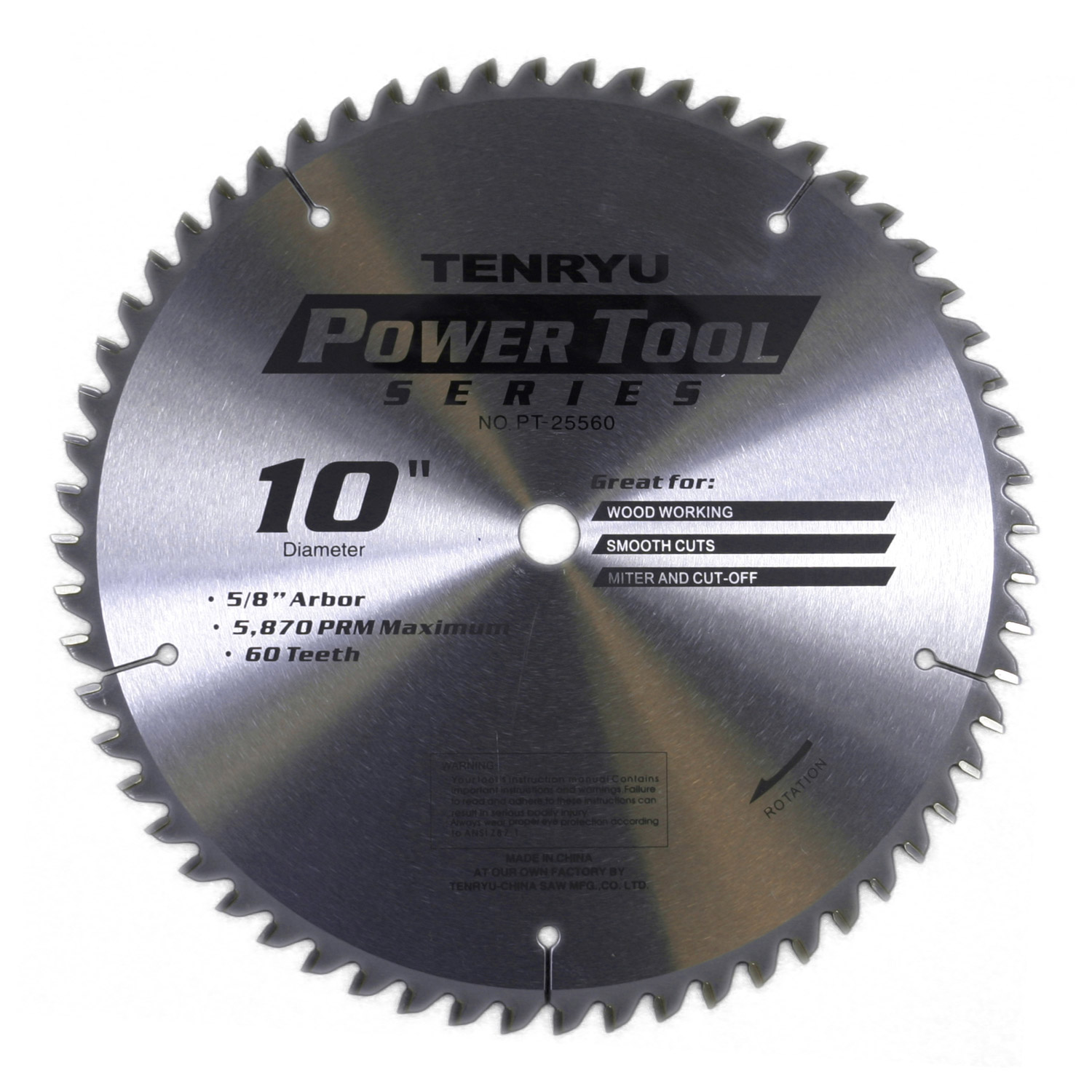 tenryu pt 25560 10 inch carbide tipped table saw blade ebay