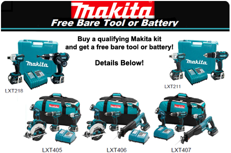 Makita Free Bare Tool or Free Battery Promotion