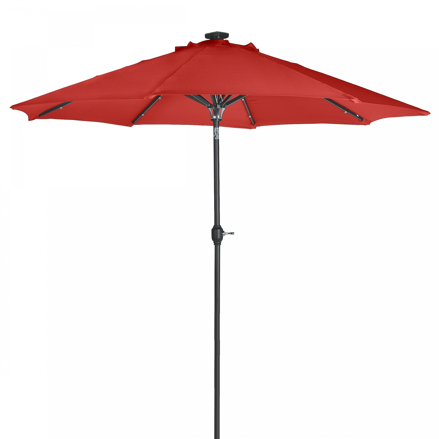 Details About Sunergy 50140851 9 Ft Solar Ed Metal Patio Umbrella 24 Led Lights Scarlet