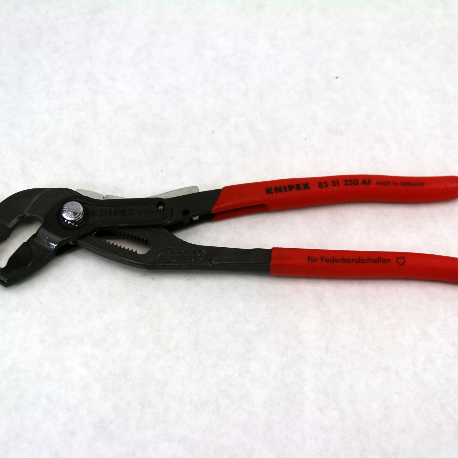 Knipex 8551250A 10-inch Chrome Vanadium Spring Band Forged Clamp Pliers