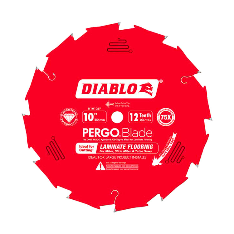 Freud D1012lf Diablo 10 Inch 12 Pcd Pergo Diamond Laminate
