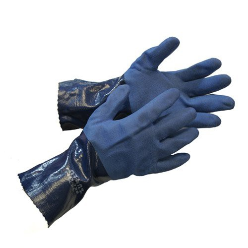 Atlas 720 Dipped-Nitrile Blue Chemical Resistant X-Large Work Gloves 12-Pairs