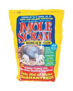 Mole Scram 3144 Natural Mole Repellant, 10 Lbs.