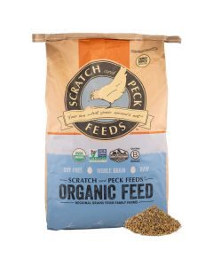 Scratch and Peck Feeds 1001-40 Organic Broiler with Corn - 40-lbs