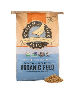 Scratch and Peck Feeds 1004-40 Organic Layer Feed with Corn - 40-lbs