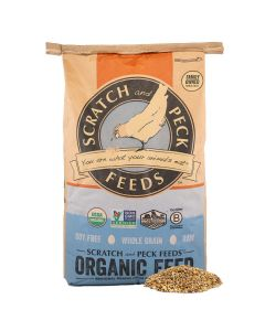 Scratch and Peck Feeds 1011-40 Organic Scratch n' Corn Hen Treat - 40-lbs