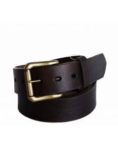 R.G. BULLCO USA RGB-123X 1-1/2-In Full Grain Dark Brown Leather Belt - Size 56