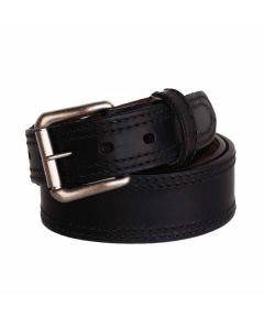 R.G. BULLCO USA RGB-128 1-3/4-In - 1-1/2-In Double Stitch Black Belt - Size 30
