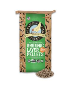 Scratch and Peck Feeds 2024-25 Naturally Free Organic Layer Pellet Feed - 25-lbs