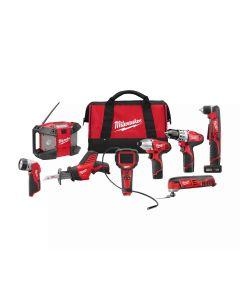 The Milwaukee 2495-28 12v Cordless 8-Tool Combo Kit
