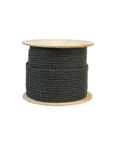 CWC 301085 3/8 Inch Twisted Polypropylene Black Rope 600 Feet Long