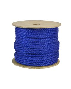 CWC 301205 5/16 Inch Twisted Polypropylene Blue Rope 600 Feet Long