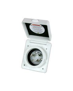 Marinco 301EL-B 30 AMP 125V Standard Power Inlet RV Power UL Listed, White