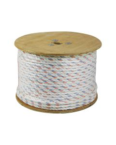 CWC 325005 3-Strand Poly-Dacron 600-Feet White Rope with Tracer, 1/4-inch