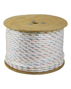 CWC 325040 3-Strand Poly-Dacron 600-Feet White Rope with Tracer, 7/16-inch