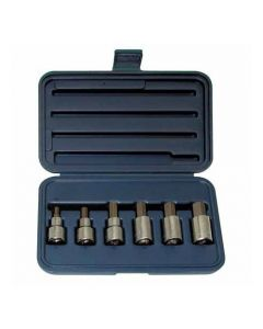 "Wright Tool 453 Hex Bit Socket Set 1/2"" Drive Metric 6 Piece"