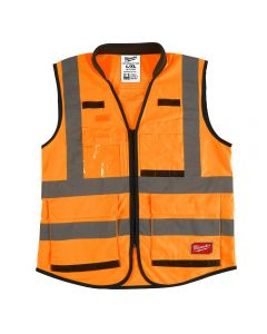 Milwaukee 48-73-5092 ANSI/CSA High Visibility Orange Safety Vests - L/XL