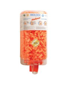Moldex 6847 Mellows 30dB 500 Pair Disposable Foam Earplugs Plugstation, Orange
