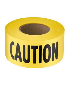 Empire Level 71-0301 300' Yellow 2mil Thick Caution Barricade Tape