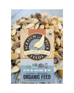 Scratch and Peck 79941 Organic Grower Feed for Chickens and Ducks - 25lbs