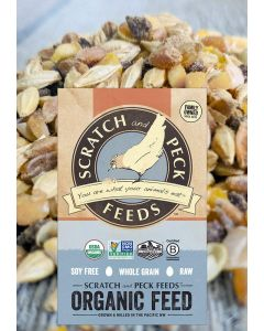 Scratch and Peck Feeds 1011-25 Organic Scratch n' Corn Hen Treat - 25-lbs