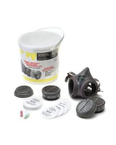Moldex 8111KN Paint Spray/Pesticide NIOSH Assembled Respirator Bucket Kit, Small