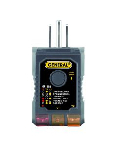 General Tools GF1302 3-Wire Circuit Analyzer with GFCI Tester