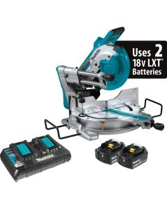"Makita XSL04PTU 36V Brushless 10"" Dual-Bevel Sliding Compound Miter Saw Kit"