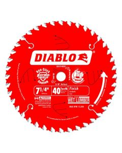 """Freud D0740X Diablo 7-1/4"""" 40T ATB Finish/Plywood Saw Blade, 5/8"""" Arbor"""