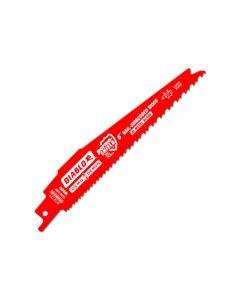 "Freud DS0612BW25 Diablo 6"" 6/12 TPI Wood Cutting Reciprocating Saw Blade 25 Pack"
