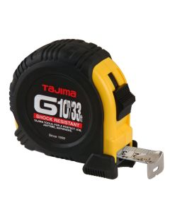 Tajima G-33-10MBW 33-Feet 10 Meter by 1-Inch Standard and Metric G-Plus Tape Measure