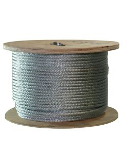 West Coast Wire Rope G014150C 500 Ft of Galvanized Wire Rope 1/4-Inch