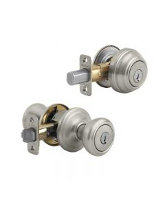 Satin Nickel Deadbolt Combo Pack