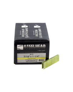 Steelhead N15 Galvanized Staples, 7/16-Inch Crown, 1-1/4-Inch leg, 10,000-Pack