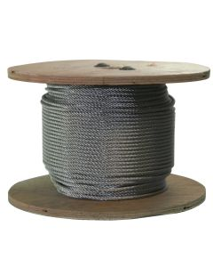 West Coast Wire Rope S316250C 250 Ft of Stainless Steel Wire Rope 3/16 inch