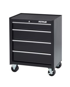 Waterloo SCA-264BK-B Shop Series 26-inch 4-Drawer Ball-Bearing Cabinet, Black