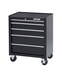 Waterloo SCA-265BK-B Shop Series 26-inch Wide 5-Drawer Ball-Bearing Cabinet, Blk