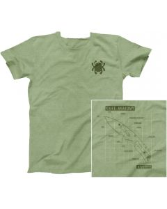 Spyderco TSKAXXXL Polyester Cotton Shirt - 3X-Large, Heather Green