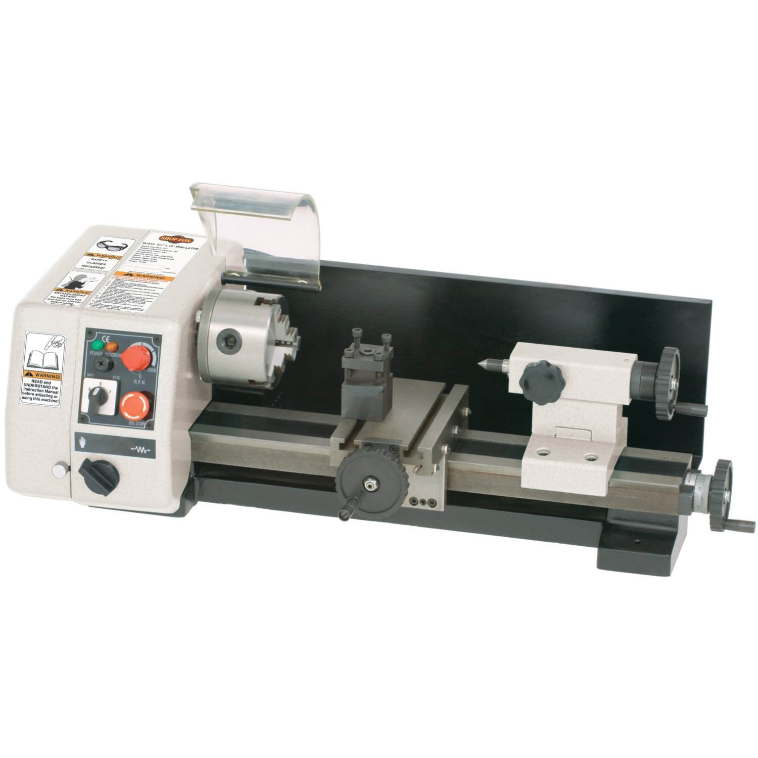 Details about Shop Fox M1015 1/5 HP 110-Volt 6-inch by 10-inch Mini Micro  Lathe
